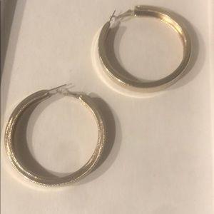 """Jewelry - Gold hoop earrings, 2"""""""